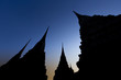 Silhouette of Pagoda at Wat Pho, Thailand
