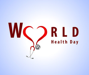 Abstract world health day concept with doctor stethoscope