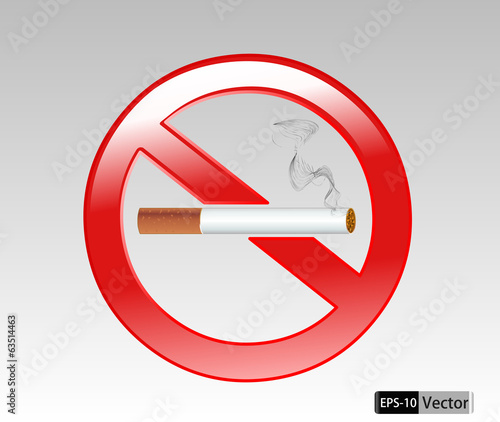 No smoking sign vector Illustration on white background