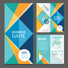 Business brochure modern design template.vector