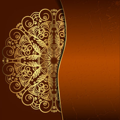 Luxury round openwork pattern. Template for the cover, invitatio