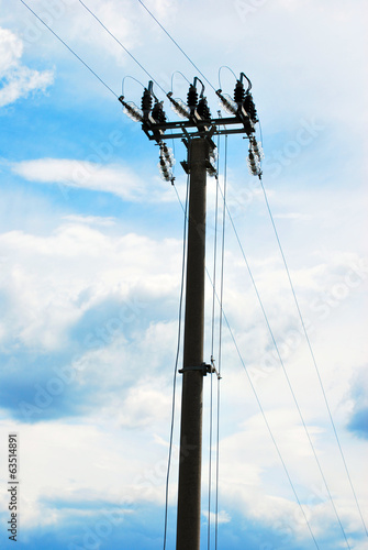 Pole high voltage