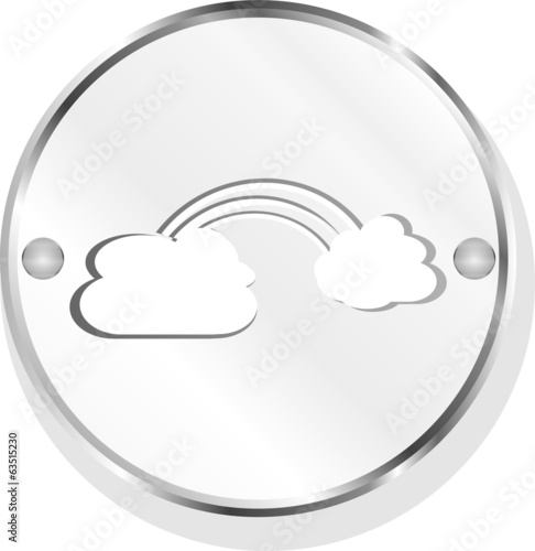 Abstract cloud web icon isolated on white