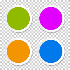 Colorful Vector Empty Circle Stickers - Labels Set