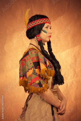 Native american woman toned image