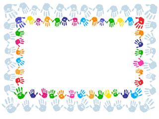 Hand paint print border