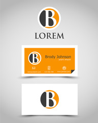 modern business card B