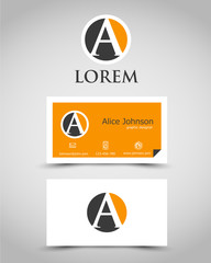 modern business card A