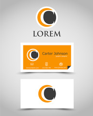modern business card C