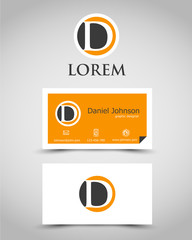 modern business card D