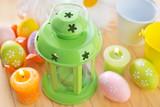 lantern and eggs