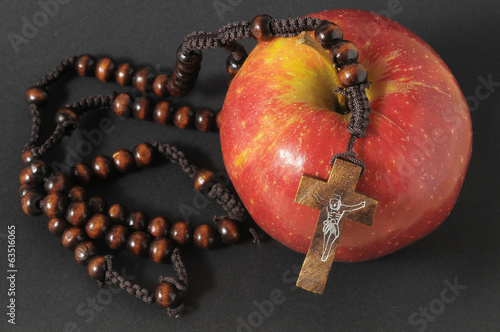 Bible Eva's Sin Red Apple