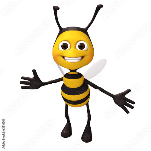 Cartoon of bee