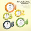 abstract circle option infographics