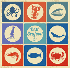 Best seafood icons