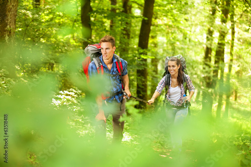 Couple on a hike