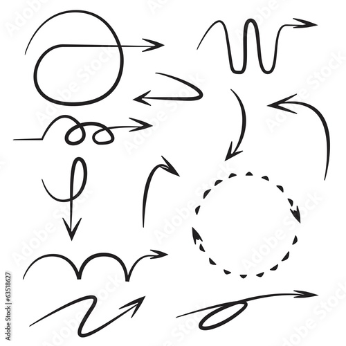 sketch arrows, comic arrows