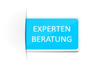 Schild Etikett Expertenberatung