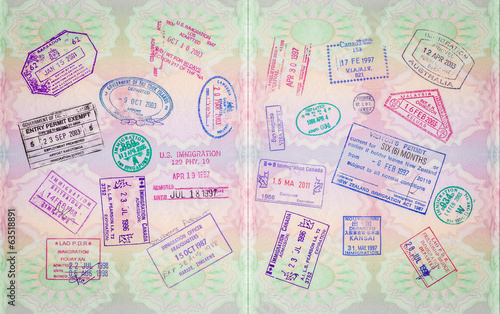 Retro Passport Stamps