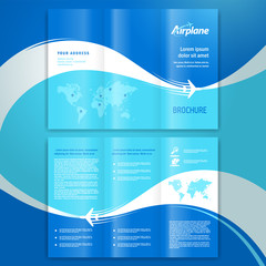 brochure design template leaflet airplane way