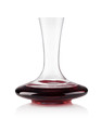 Red wine on a decanter isolated over white background