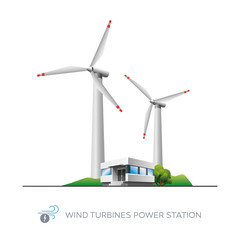 Wind turbine power station