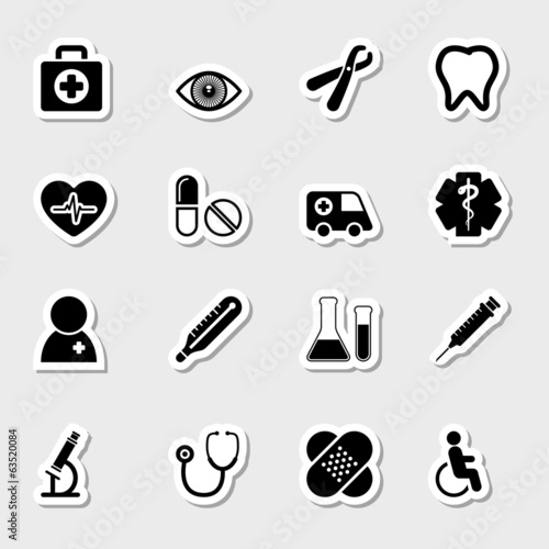 Medical Icons Set as Labels