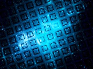 Blue grid in space