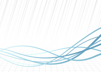 Technology rapid blue lines background