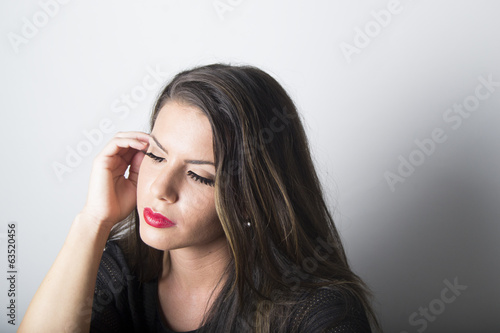 Beautiful woman with eyes closed (portrait)
