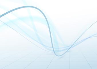 Transparent swoosh blue waves perspective background