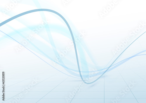 Transparent swoosh blue waves perspective background