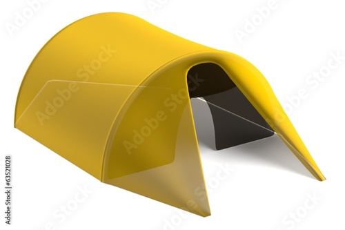 realistic 3d render of tent
