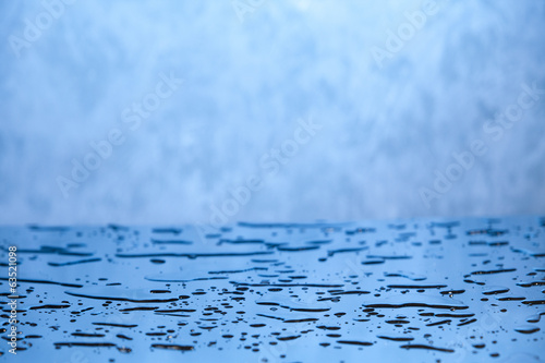 blue water background with drops