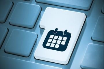 Composite image of calendar on enter key