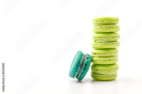 Macaron isolated white background