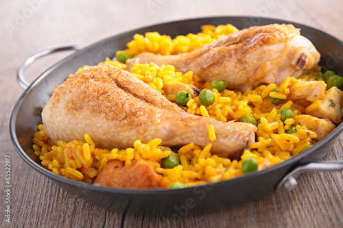 casserole with paella