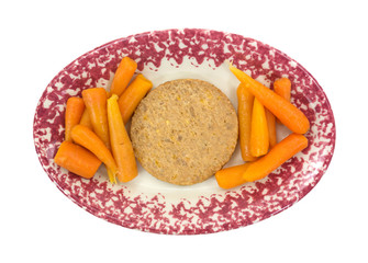 Vegetable burger with carrots