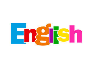 """ENGLISH"" Letter Collage (language learn class course england)"