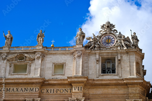 canvas print picture Detail of the San Peter Basilica, Vatican, Rome, Italy