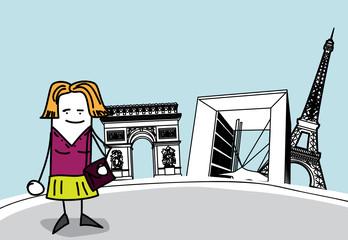 Femme à Paris