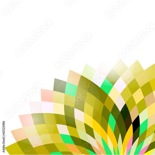 Geometric colorful flower shape isolate white background, vector