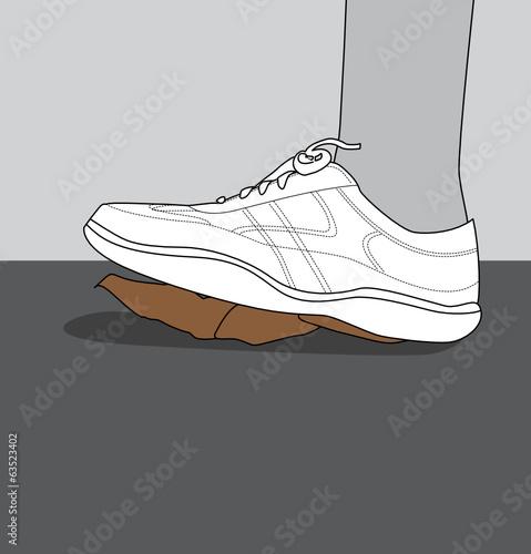 """""""Chaussure qui écrase une crotte de chien dans la rue"""" fichier vectoriel libre de droits sur la ..."""