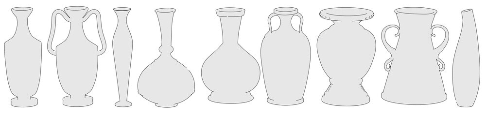 cartoon image of antique vases