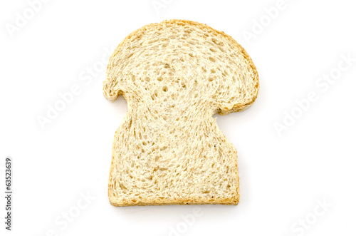 Sliced homemade brown bread studio isolated