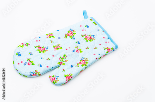 Oven glove isolated white background