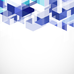 Modern blue geometrical abstract template and space for your tex
