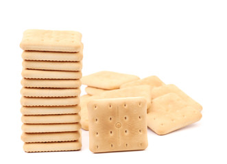Stack saltine soda cracker