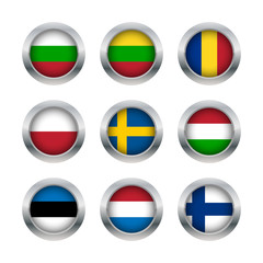 Flag buttons set 3