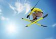 jumping skier